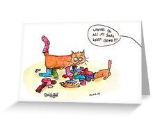 Sock Thieves Greeting Card