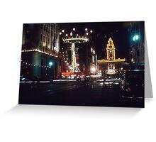 Elizabeth Street night - 1954 Greeting Card