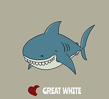 Love Great white by mangulica