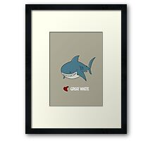 Love Great white Framed Print