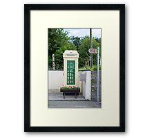 old irish telephone kiosk Framed Print