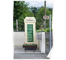 old irish telephone kiosk Poster