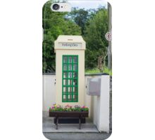old irish telephone kiosk iPhone Case/Skin