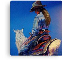"""Cowgirl Blues"" Canvas Print"