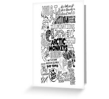 Arctic Monkey Quotes Pattern Greeting Card