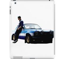 Paul walker and car iPad Case/Skin