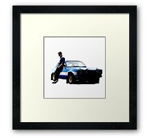 Paul walker and car Framed Print