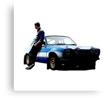 Paul walker and car Canvas Print