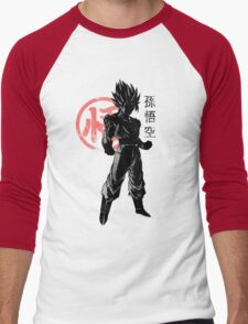 crimson goku Men's Baseball ¾ T-Shirt