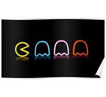 Pac-man - Rainbow Poster
