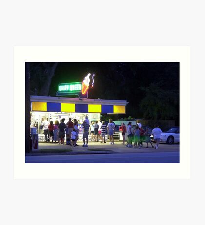 Cool times at the hot spot Art Print