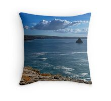 Gull Rock from Penhallic Point Throw Pillow