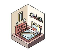 A Cute Isometric Room by Julia Moore