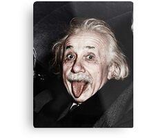Einstein Colourised Metal Print
