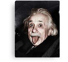 Einstein Colourised Canvas Print