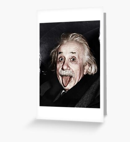 Einstein Colourised Greeting Card