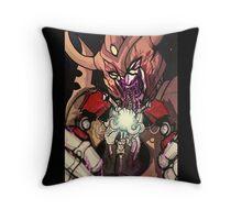 unicron devours optimus prime Throw Pillow