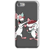 Zombie and the Brain (image only) iPhone Case/Skin