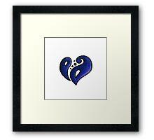 Strength / قوة (blue) Framed Print