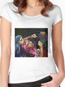 Painting with Pixels Women's Fitted Scoop T-Shirt