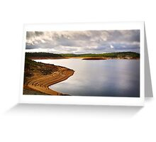 Dramatic sky over Canning Dam Greeting Card