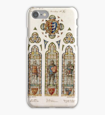 thE connaught hall Edward Astley window design by H W Lonsdale 1892 iPhone Case/Skin
