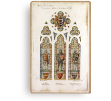 thE connaught hall Edward Astley window design by H W Lonsdale 1892 Canvas Print
