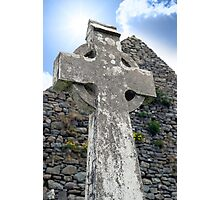 old kerry celtic cross Photographic Print