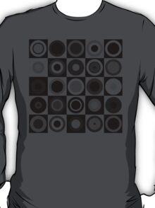 Retro concentric Black T-Shirt