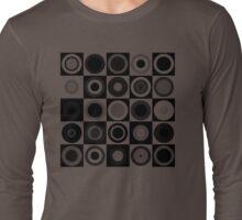 Retro concentric Black Long Sleeve T-Shirt