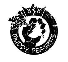 Muddy Peasants (Black) Photographic Print