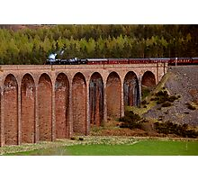 Steam Train crossing the Clava Viaduct Photographic Print