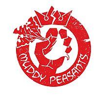 Muddy Peasants (Red) Photographic Print