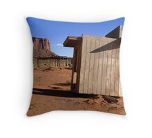 Escape from the Out House Throw Pillow