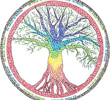 As above so below Chakra Tree by chakrascribbles