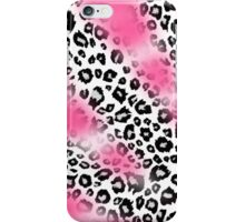 Pink Paint and Black and White Leopard Print iPhone Case/Skin