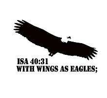 WITH WINGS AS EAGLES Photographic Print