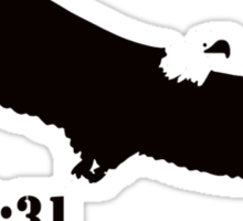 WITH WINGS AS EAGLES Sticker