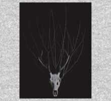 Deer Skull with a Crown of Branches Kids Clothes