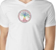 As above so below Chakra Tree Mens V-Neck T-Shirt