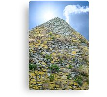 old stone walls from  an old church Canvas Print