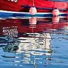Lyme Regis Harbour Reflections 2 - April by Susie Peek