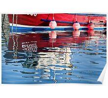 Lyme Regis Harbour Reflections 2 - April Poster