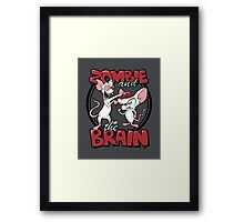 Zombie and the Brain Framed Print