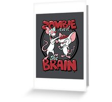 Zombie and the Brain Greeting Card