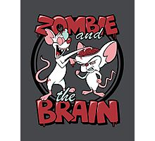 Zombie and the Brain Photographic Print