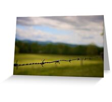 Barb Wire Greeting Card