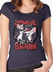 Zombie and the Brain Women's Fitted Scoop T-Shirt