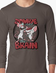 Zombie and the Brain Long Sleeve T-Shirt
