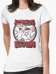 Zombie and the Brain Womens Fitted T-Shirt